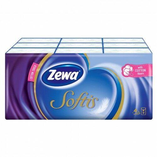 Zewa - chusteczki higieniczne softis pocket 9 paczek marki Promki24.com