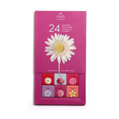 """Bombonierka,,Kwiaty"""" 24 kostki dla smakoszy Dolfin, BE11-243F7"""