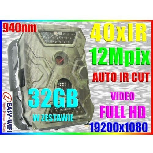 KAMERA LEŚNA FOTOPUŁAPKA CZUJNIK RUCHU PIR +32GB (kamera monitoringowa)