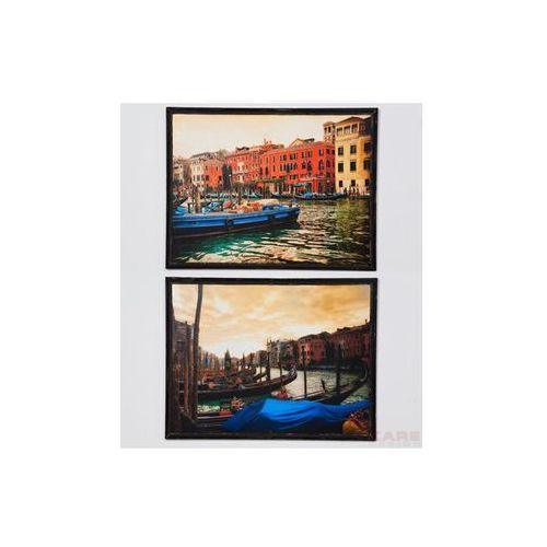 Kare Design Canale Grande Obraz w Drewnianej Ramie 34x47 cm - 33519 (obraz)