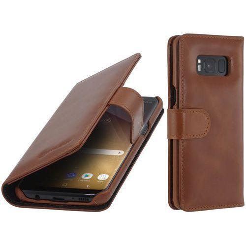 talis brązowe | etui z klapką typu książka dla modelu samsung galaxy s8 - brązowy marki Stilgut