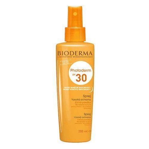 spray do opalania dla wrażliwej skóry spf 30 photoderm rodzina (high protection spray 200 ml) marki Bioderma