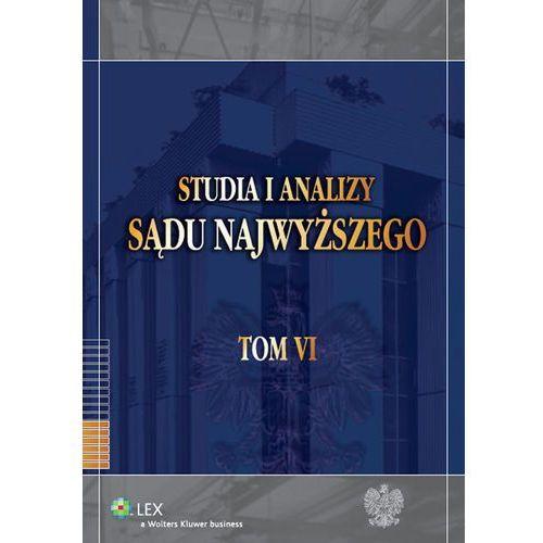 Studia i Analizy Sądu Najwyższego Tom 6 - Krzysztof Ślebzak (9788326407796)