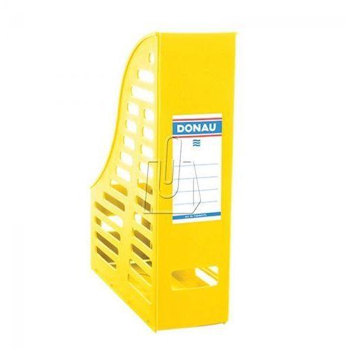 Pojemnik na dokumenty (czasopisma) Donau A4 żółty składany ażur (7464001PL-11), 7464001PL-11