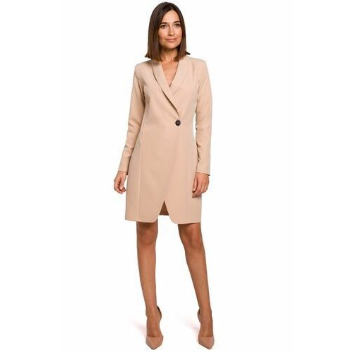 Style S217 sukienka żakietowa - beżowa