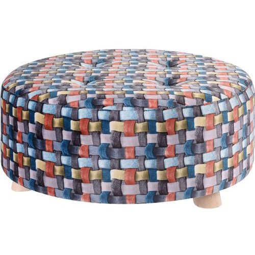 Pufa bawełniana, siedzisko, podnóżek, kolorowy - 52 x 22 cm, kolor wielokolorowy