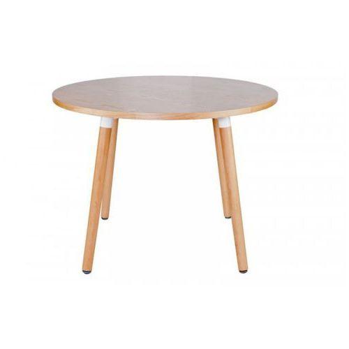 Stół Okrągły 100 cm COPINE - Blat Naturaly, D2 z DesignForHome.pl