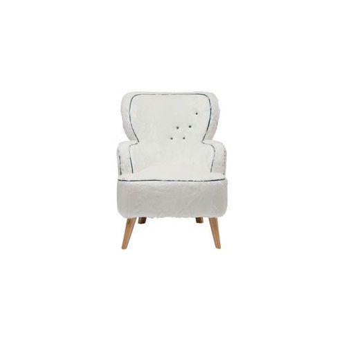White Diva Yeti Fotel Biały Tkanina 75x100cm (78261), marki Kare Design do zakupu w sfmeble.pl