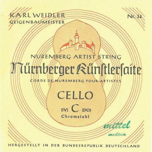 (639644) struny do wiolonczeli mistrz - set 1/8 marki Nurnberger