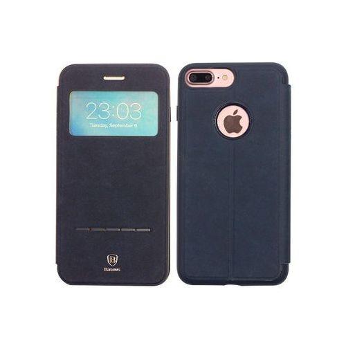 Apple iPhone 7 Plus - etui na telefon Baseus Simple Series Leather Case - niebieskie, kolor niebieski