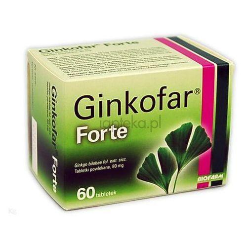 Biofarm sp.z o.o. polska Ginkofar forte 80mg 60 tabletek