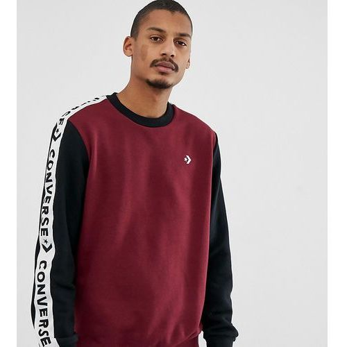 sweat with tape side stripe exclusive to asos - red, Converse