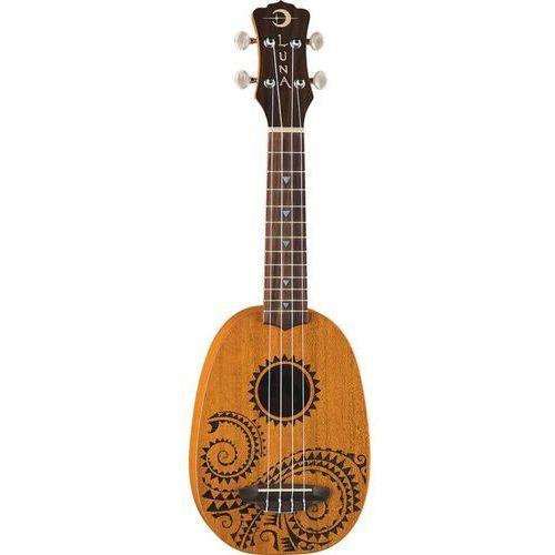 mahogany tattoo soprano pineaple - ukulele sopranowe marki Luna