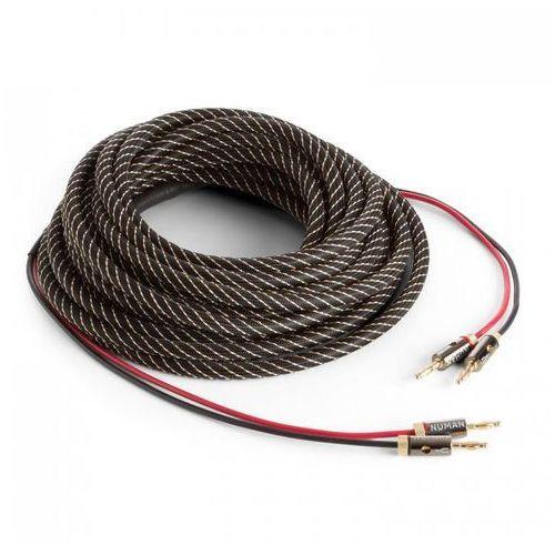 Numan Kabel głośnikowy - czysta miedź ofc 2 x 3,5mm² 10m pokrycie materiałowe konfekcjonowany