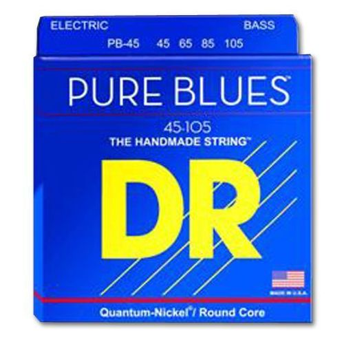 DR PURE BLUES - struny do gitary basowej, Medium Light,.045-.105