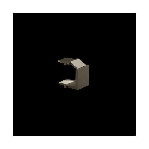Kontakt-simon Zaślepka otworu wtyku rj45/rj12 do pokrywy gniazda teleinformatycznego; brąz mat