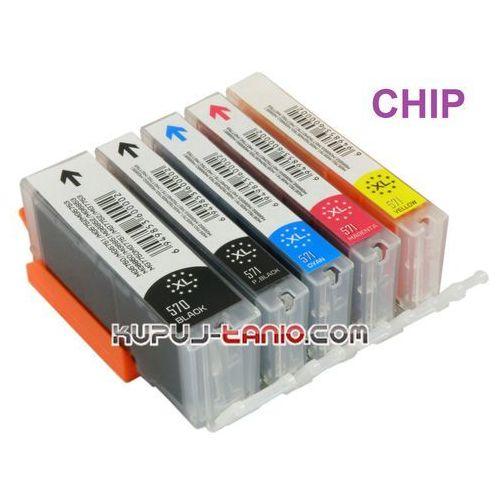 Crystal ink .pgi-570pgbk xl - cli-571 xl tusze canon (6 szt z chipami, crystal-ink) tusze do drukarki canon mg7750, canon mg7751, canon mg7752, canon mg7753 (6959080035708)