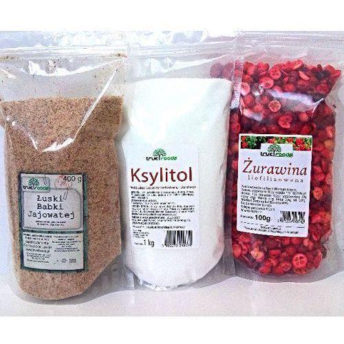 Dieta oxy (żurawina 100g+ksylitol 1kg+łuski babki jajowatej 400g) marki True foods