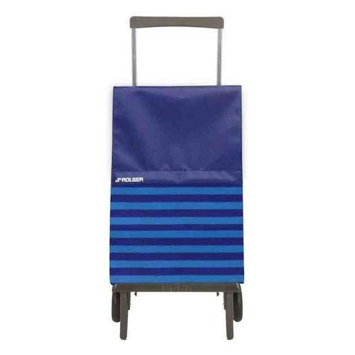 Wózek zakupowy składany Rolser Plegamatic Marina azul (wózek na zakupy)