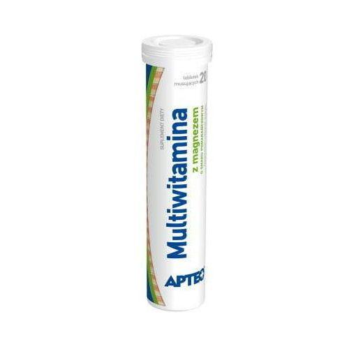 Tabletki MULTIWITAMINA z magnezem smak pomarańczowy Apteo x 20 tabletek musujących