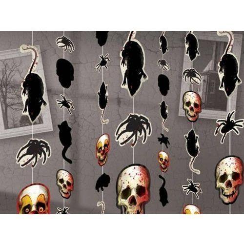 Dekoracja wisząca szczury i czaszki na halloween - 180 cm - 8 szt. marki Amscan