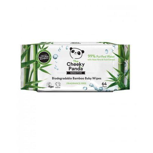 Bambusowe Chusteczki Nasączone Wodą Cheeky Panda, 64szt., 191