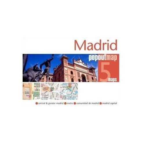 Madrid Popout Map, Popout Maps