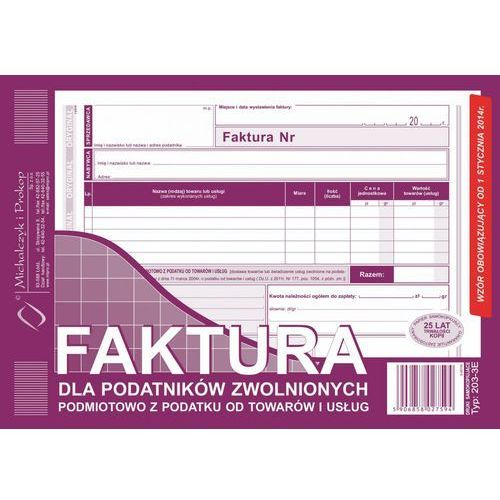 Michalczyk i prokop Faktura dla podat. zwol. podmiot. michalczyk&prokop 203-3e - a5 (oryginał+kopia) (5906858027594)