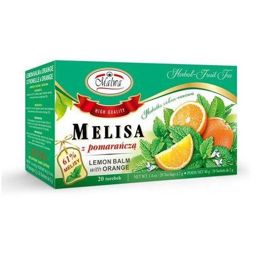 Herbaty malwa Herbata ziołowa melisa z pomarańczą 20tb malwa tea