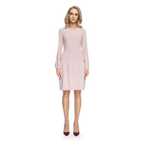 4b1345d1c1 Rozkloszowana Sukienka z Delikatnym Dekoltem