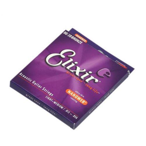 Elixir 11077 nw 80/20 bronze struny do gitary akustycznej 12-56