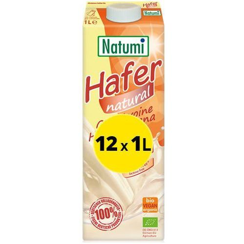 139natumi Natumi - bezmleczny napój mleko owsiany naturalny 12x1l zestaw eko