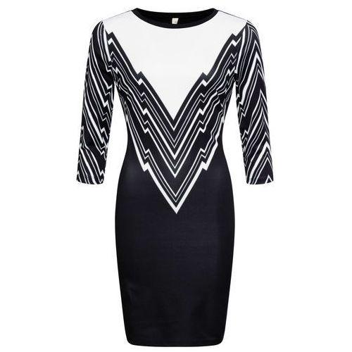 Sukienka z dzianiny bonprix czarny, w 8 rozmiarach