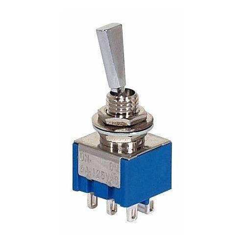 Mec Mini Toggle switch chrom ON - ON DPDT flat toggle przełącznik gitarowy