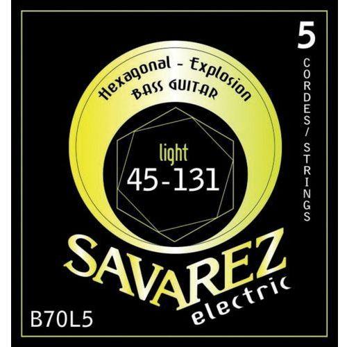Savarez (682345) struny do gitary basowej hexagonal explosion 5-str. light