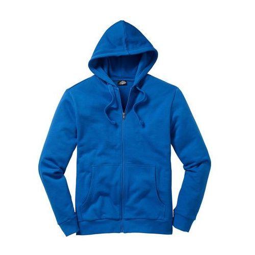 Bluza rozpinana z kapturem regular fit lazurowy niebieski, Bonprix, S-XXL