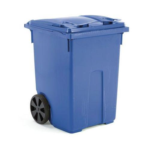 Array Niebieski kontener na odpadki o poj. 370 l - 745x800x1075mm