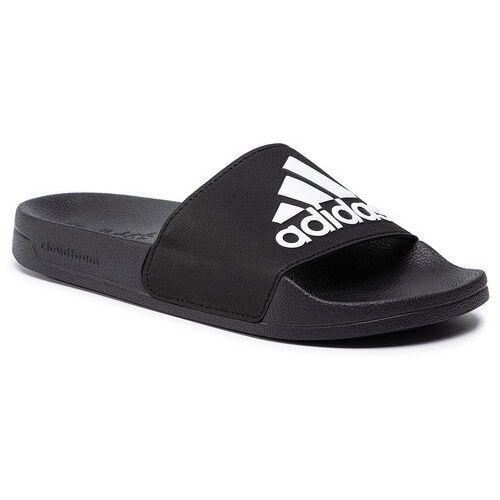 adilette shower kapcie mężczyźni, core black/footwear white/core black uk 9   eu 43 1/3 2019 klapki i sandały kąpielowe marki Adidas