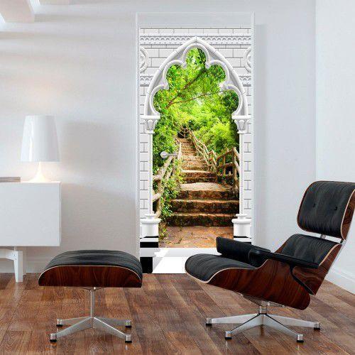 Artgeist Fototapeta na drzwi - tapeta na drzwi - łuk gotycki i kamienne schody