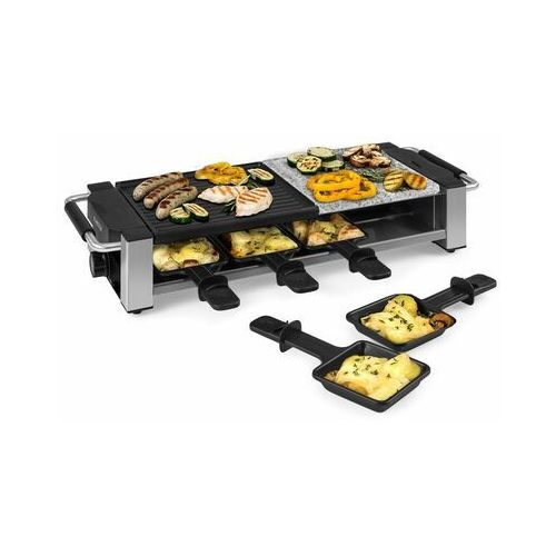 bistecca, grill raclette, metal/kamień, na 8 osób, lampka kontrolna led, 1200 w marki Klarstein