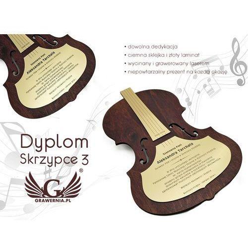 Dyplom drewniany skrzypce 3 marki Grawernia.pl - grawerowanie i wycinanie laserem