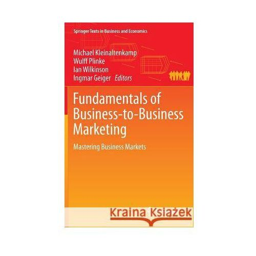 Fundamentals of Business-to-Business Marketing