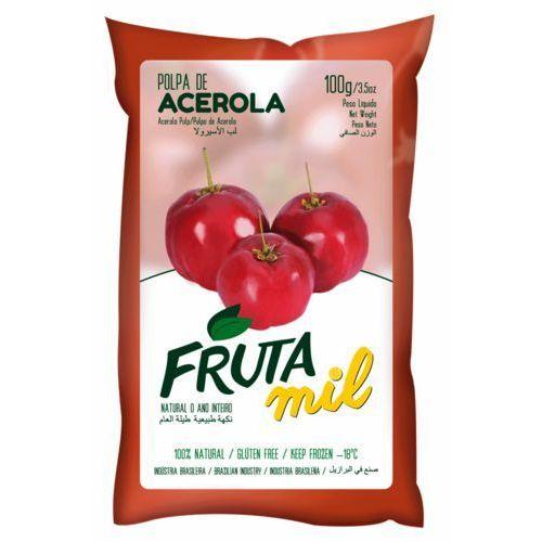 Acerola wiśnia z barbados miąższ (puree owocowe, pulpa, sok z miąższem) bez cukru 2kg marki Frutamil comércio de frutas e sucos ltda
