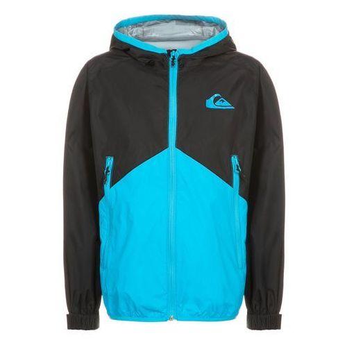 Quiksilver NEW WAVE Kurtka przeciwdeszczowa neon blue - produkt z kategorii- kurtki dla dzieci