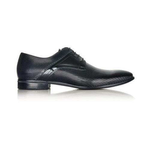 Buty męskie czarne, kolor czarny