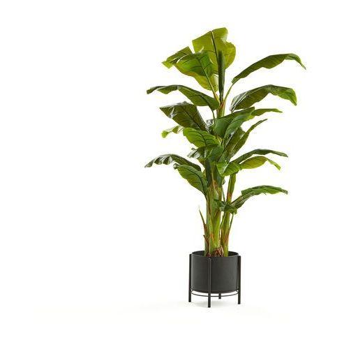 Bananowiec, 1500 mm, czarna stalowa donica