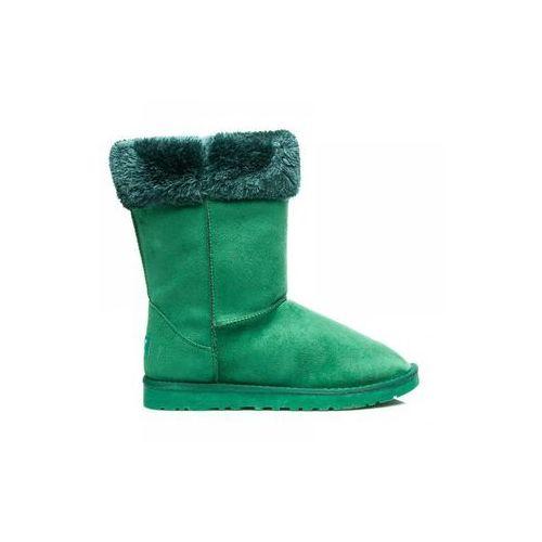 Śniegowce z futerkiem zielony marki Zoki