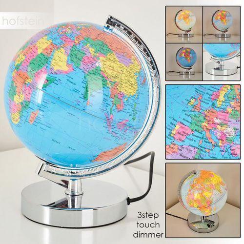 Globus lampa stołowa chrom, 1-punktowy - nowoczesny - obszar wewnętrzny - globus - czas dostawy: od 3-6 dni roboczych marki Hofstein