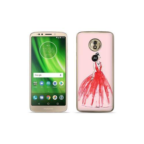 etuo Fantastic Case - Motorola Moto G6 Play - etui na telefon Fantastic Case - czerwona suknia, kolor czerwony