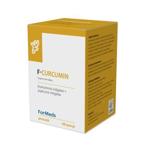 F-Curcumin Kurkumina indyjska 475mg + piperyna indyjska 9,5mg 60 porcji 30,6g ForMeds (5902768866360)